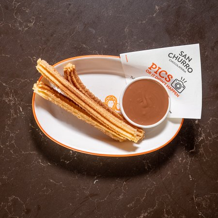 Churros for one with milk chocolate dip