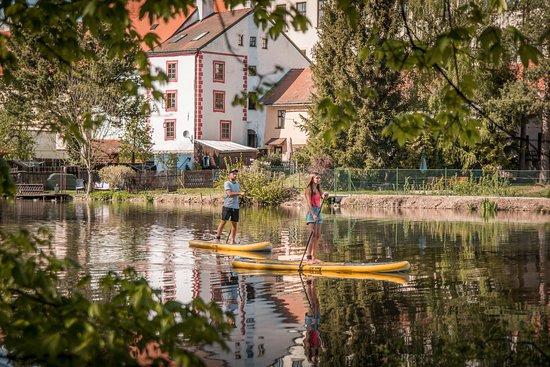 Paddleboarding in Telč
