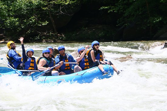 Middle Ocoee Trips: When a guide asks if you want to ride the bull, ALWAYS say yes!