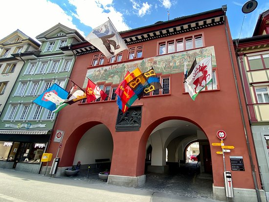 Das Rathaus in Appenzell