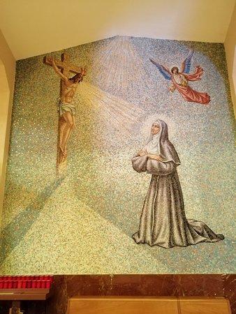 Mosaico raffigurante Santa Rita