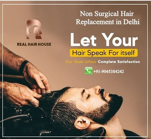 """Realhairhouse:- Non Surgical Hair Replacement in Delhi. Let Your """"Hair Speak For itself"""" Our Goal is Your Complete Satisfaction. Sardarji Real Hair House Contact Us: +91-9045384242, +91-7906348470 Website: 🌐 www.realhairhouse.com/hair-patch-in-delhi/ #hairloss #hairreplacement #haircare #hair #hairlosstreatment #baldness #hairpatches #balding #menshair #hairrestoration"""