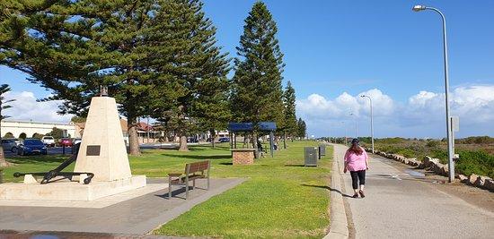 Largs Bay Jetty SA  walkway facing south note bba and seating ares