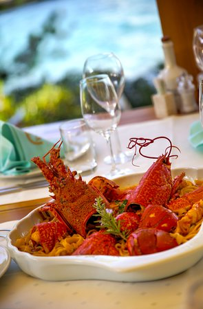 Adriatic lobster - our guest's first choice.