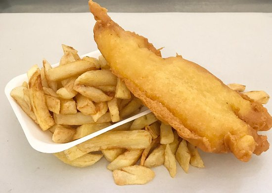Gluten free fish special.  Medium piece of code coated in a gluten free batter and fired in a separate fryer using beef dripping