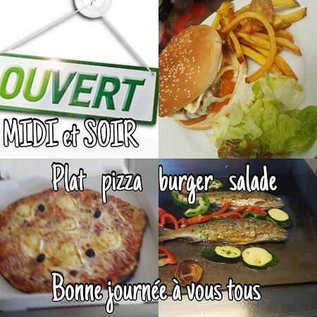 Maubourguet, França: Nous fesons aussi de l emporter  Plat pizza burger etc