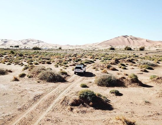 en el medio del desierto