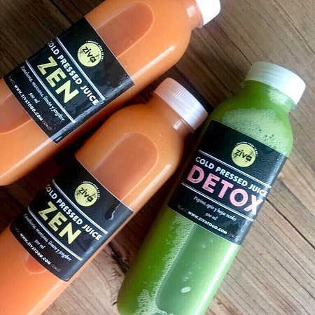 Ziva cold-pressed juices in 250ml and 500ml