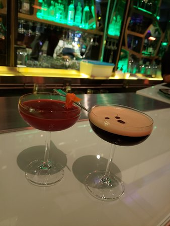 Cocktail. The right one was an Espresso Martini.