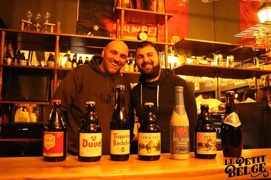 The owners of Le Petit Belge