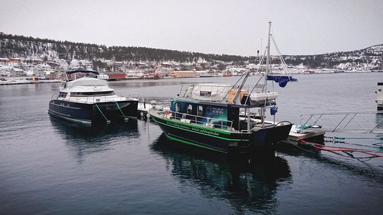 Our boats by the harbour in Alta