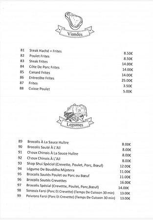 Menu Du Restaurant Prospera à Macouria
