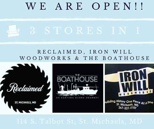 St. Michaels, MD: Remember all 3 of our local stores are in 1 fabulous downtown location!