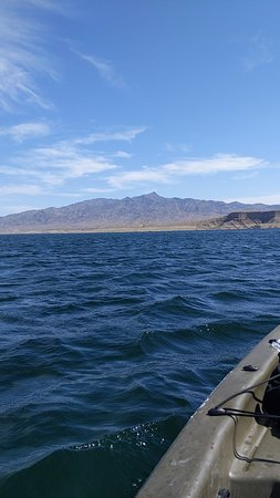 Temple Bar Marina, AZ: Great place to kayak. Only if there's not a lot of wind.