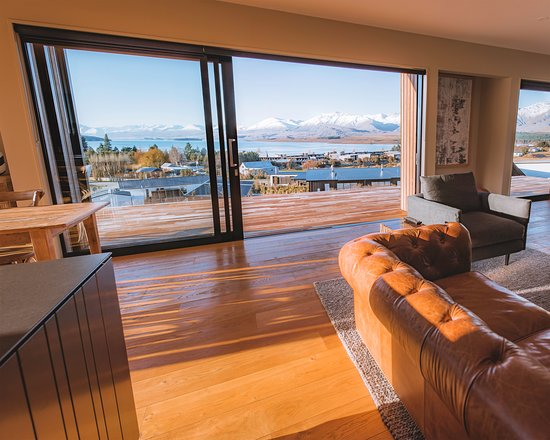 Every room in these modern villas are built to take in the breath taking views of the mountains the lake and the starlit skys