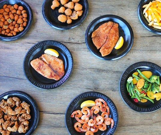 Fried Okra (top left)