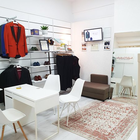 The Anghel Constantin Tailoring showroom in Bucharest, book an appointment for bespoke and made-to-measure suits, tailor-made dress shirts and leather shoes.