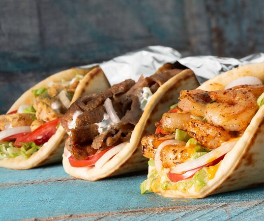 Chicken, Classic, and Shrimp Gyro