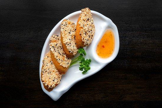 Sesame Prawn On Toast