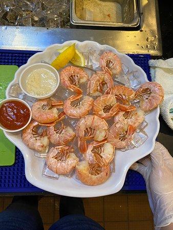 1 pound of fresh peel n' eat shrimp. 1/2 pound $10.99/1 pound $17.99