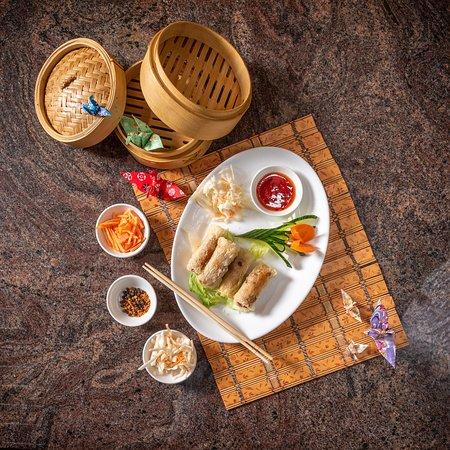 Nr 4 Vietnamrollen (mit Crevetten) no 4 Vietnam rolls (with shrimp)