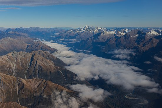 Milford Sound Scenic Flyover ex Queenstown: Cloud can add an extra dimension to your photographs, so don't be put off if it's a little cloudy!