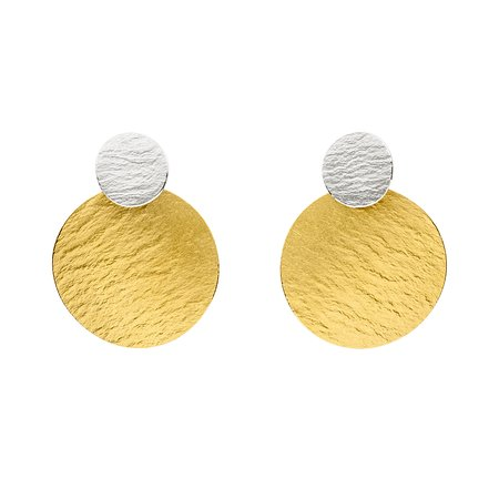 Manu 22k & Silver Bi Metal Contemporary Earrings Exclusively Available at Designyard Dublin Ireland and online