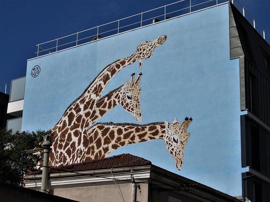 "Fresque ""les Girafes"""
