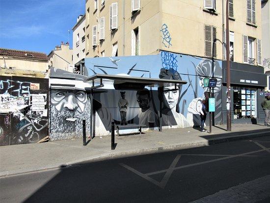 """Fresque """"les Passagers"""""""