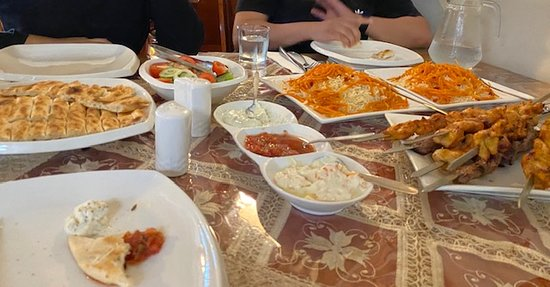 Rice, bread, dips and kebabs - everything super fresh snd tasty!