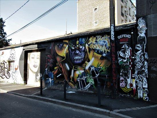 """Fresque """"mur Marcel Sembat03 Espion"""""""