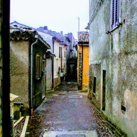 Street of historical area of commune of molise