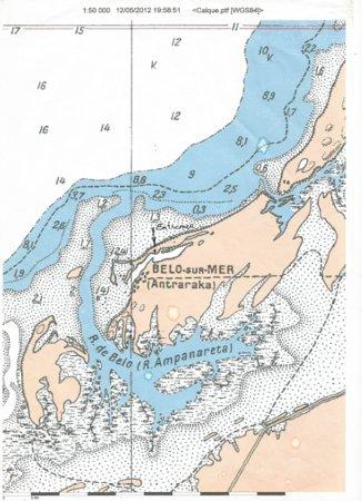 Belo Sur Mer, מדגסקר: Carte de Belo sur mer et emplacement d'Entremer