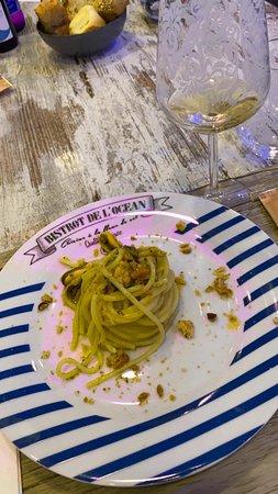 Province of Salerno, إيطاليا: Spaghetti riccio,cozze e tarallo sbriciolato