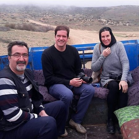 Babol, Iran: With tourists from Germany.when we were going to visit a special spa in highlands