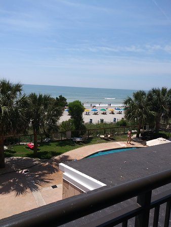 Our View from Room 209.  Oceanfront View.