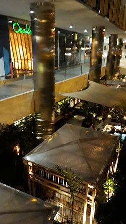"Arriving at ""Osaka Pardo y Aliaga"" in Lima's affluent ""San Isidro"" quarter."