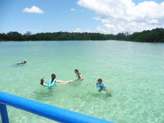 Kilwa Kisiwani Island, Tanzánia: Swimming in the clear water of Kilwa-Kisiwani within Indian Ocean.
