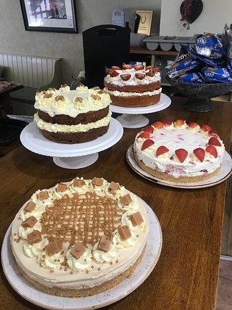 Freshly made cakes