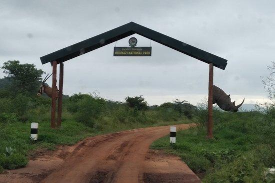 Mkomazi Game Reserve, Tanzanija: Mkomazi main entrance gate