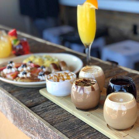 Coffee Flights & Mimosa Flights at JOJO Coffeehouse Breakfast & Brunch Restaurant