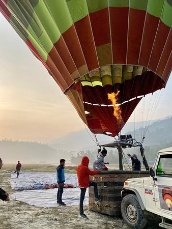 Early morning hot air ballooning