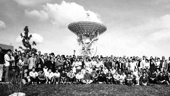 Plantilla de la Estación de Seguimiento de Fresnedillas en 1972.