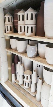 Hvide Sande, Danska: Hyggelig butik/værksted, hvor man kan se hvordan tingene bliver til