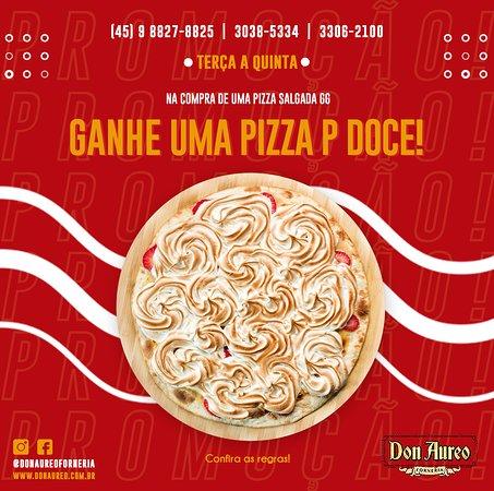Tem promo no #delivery!!!😍 ▫️ Na compra de uma pizza salgada GG 👉 #GANHE uma pizza pequena doce! 🍕 ▫️ *Promoção válida de terça a quinta. *Durante o mês 06/2020. *Para pedidos via telefone, WhatsApp e site. ▫️ ☎ (45) 3306-2100 📲 9 8827-8825 ▫️ ➡️ WhatsApp: https://api.whatsapp.com/send?phone=5545988278825 ▫️ ➡️ Site: https://mydelivery.net.br/don-aureo-forneria #novidade ▫️ #donaureo #delivery #pizza #qualidade #cascavel #promo #promoção
