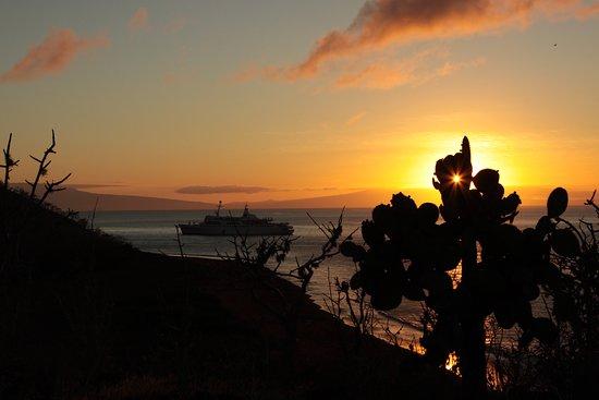 que hermoso atardecer en una de las aventuras en las islas Galápagos, gracias a Galapagos_living por la maravillosas vacaciones