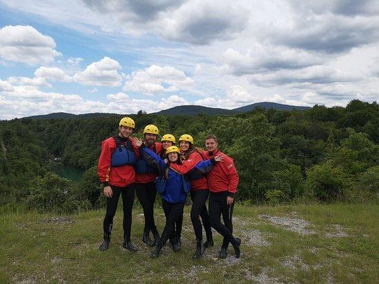 Kayaking Mreznica Canyon: our group