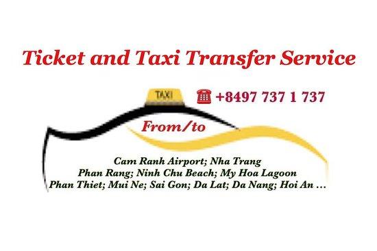 Ticket and Taxi Transfer Service: Cam Ranh, Nha Trang, Phan Rang, Mui Ne