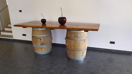 il tavolo con le botti