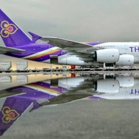 Bangkok, Thaimaa: Thai airways at suwarnabumy